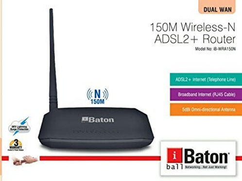 i-ball 150M Wireless-N ADSL2+ Router