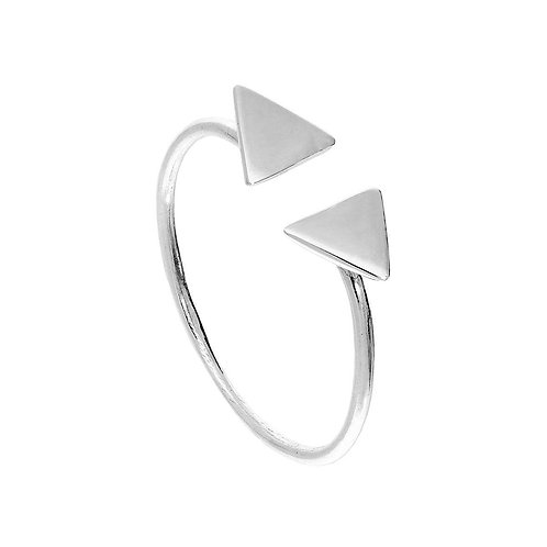 Sterling Silver Pyramids Ring