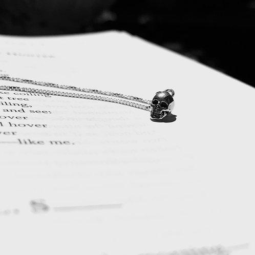 Dark Poets Club Small Skull Necklace