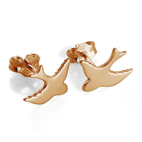 Rose Gold Plated Sterling Silver Swifts