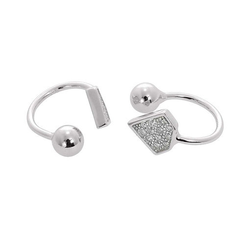 Sterling Silver Diamond Shaped Ear Cuffs