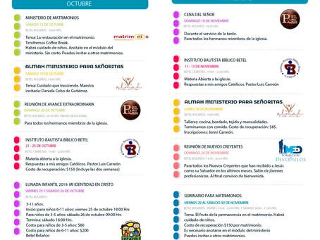 Agenda Bimestral Octubre-Noviembre 2019