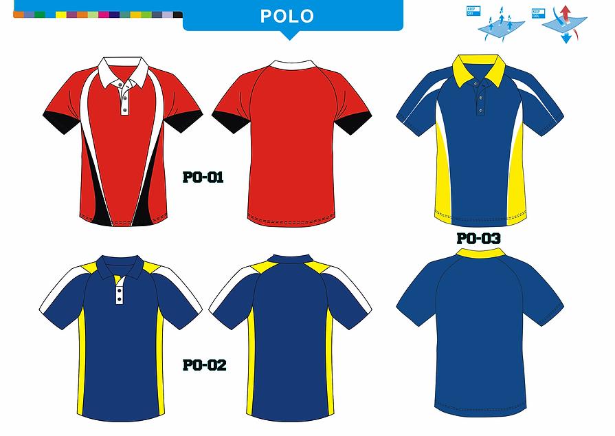 Men's Tennis Polo Uniforms