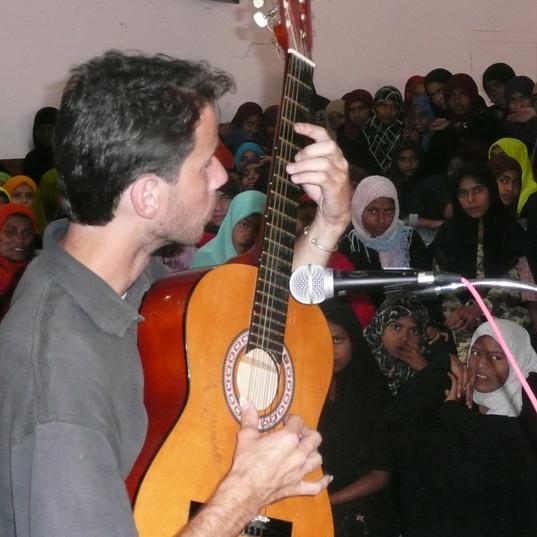 Music workshop at Wayanad Muslim Orphanege, India, 2007