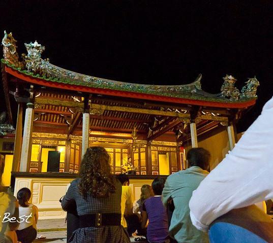 Solo concert at Koo Kongsi temple, Penang, Malaysia, 2011