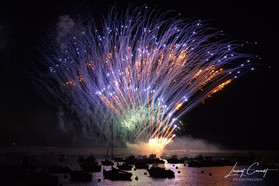 Jemasse au feu d'artifice de Port en bessin