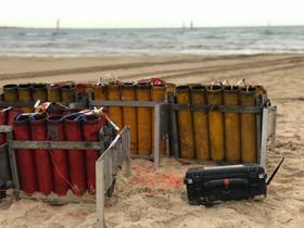 Montage feu d'artifice Portbail