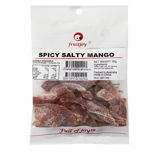 Spicy Salty Mango 50g