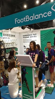 FootBalance booth at Sports Expo 2018