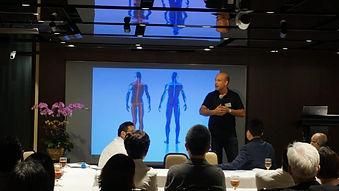 Eddie Scherer CEO of FootBalance Hong Kong at Hong Kong Federation of Senior Citizens Industries  於香港長者產業聯會推介會