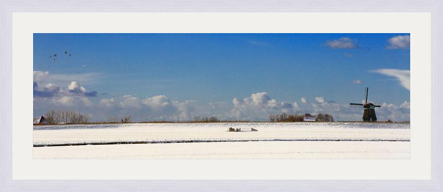 Beemster Polder in de sneeuw