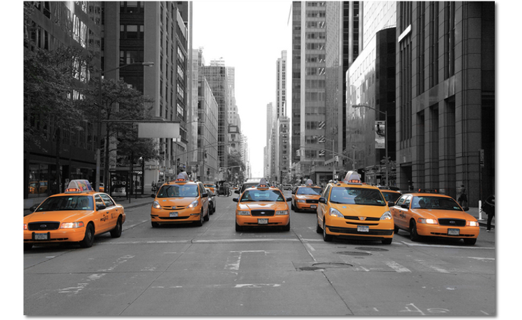 taxi's 5th avenue new york