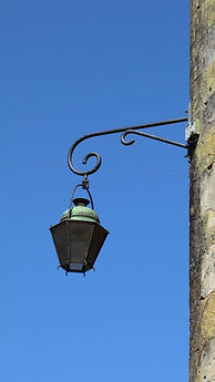 Old lamp in Monpazier France