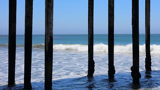 Pier and sea in California