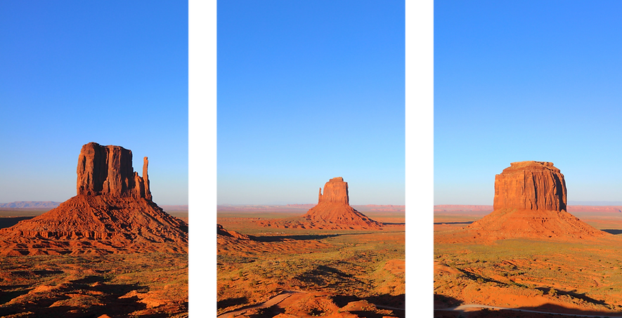 Monument Valley Triptych