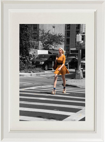 High heels on crosswalk