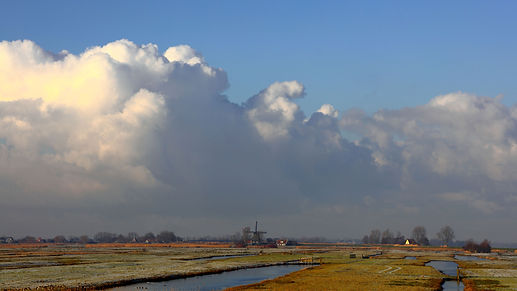 Eilandspolder in Schermer Polder the Neherlands
