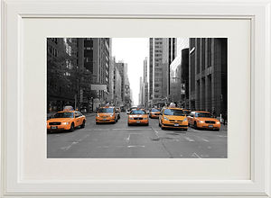 New York taxi's in 5th Avenue