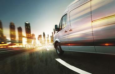 Delivery van delivers at night.jpg