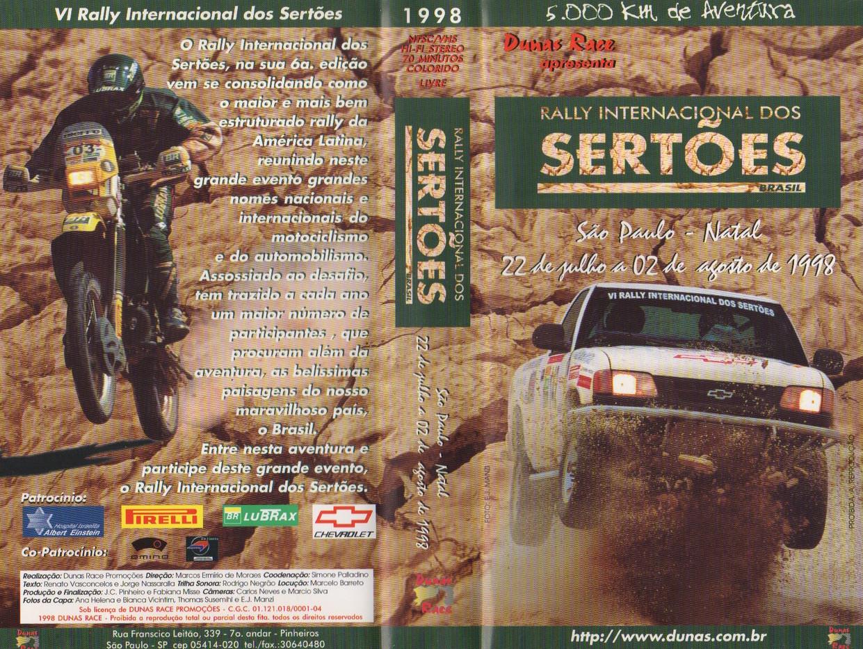 1998. VI RALLY INTERNACIONAL DOS SERTOES