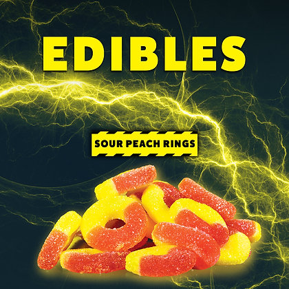 High Voltage Sour Peach Rings