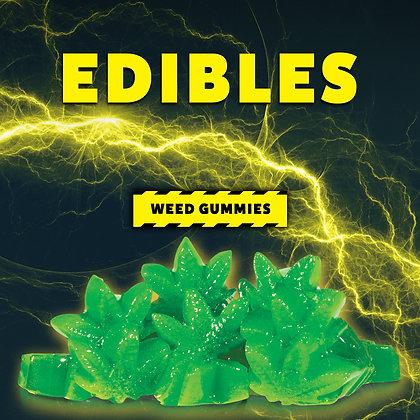 High Voltage Weed Leaf Gummies