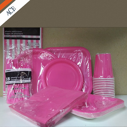Hot Pink - Plate Set