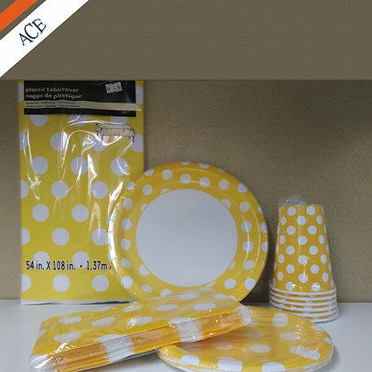 Yellow and White Dot - Party Bundle