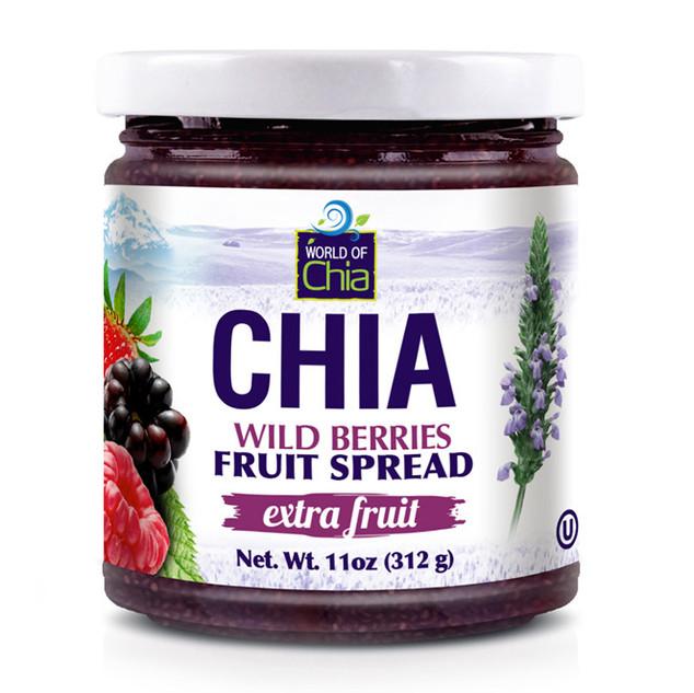 World of Chia extra fruit jam