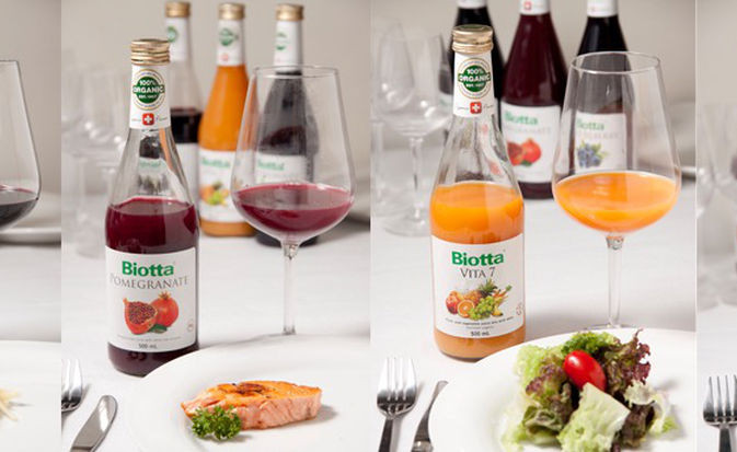 Biotta organic juice food paring press event