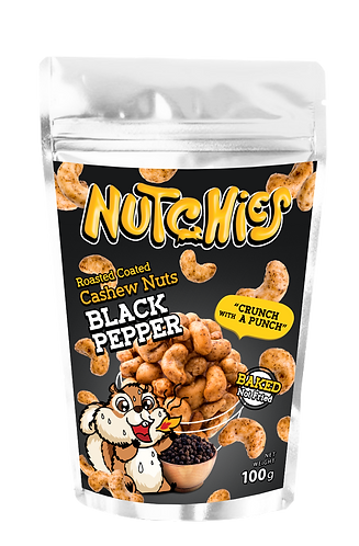 Nutchies 黑胡椒風味脆脆腰果 | Black Pepper Roasted Coated Cashews