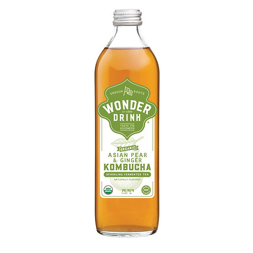 Wonder Drink 有機梨薑發酵茶 | Organic Asian Pear & Ginger Kombucha