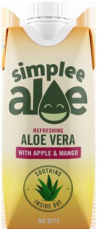 SIMPLEE ALOE 天然蘆薈汁-蘋果香芒味 330ml   SIMPLEE ALOE Apple & Mango 330ml