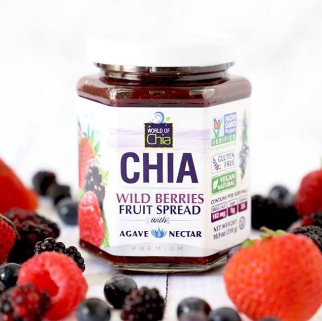 World of Chia wild berries jam
