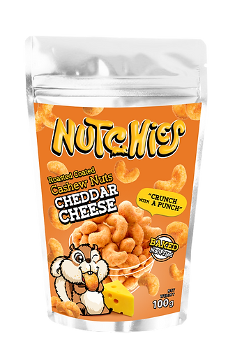 Nutchies 車打芝士風味脆脆腰果 | Cheddar Cheese Roasted Coated Cashews