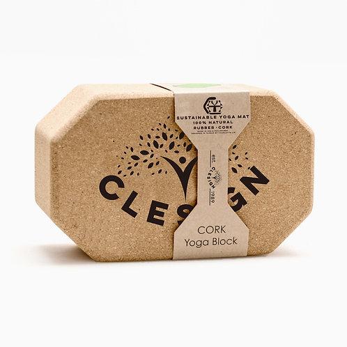 CLESIGN專利-摩洛哥環保軟木瑜珈磚(六邊形)軟木瑜伽磚天然環保無毒無味 ISB 100% Sustainable Cork block