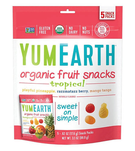 YUMEARTH 有機熱帶雜果素食軟糖 | Organic Tropical Fruit Snacks
