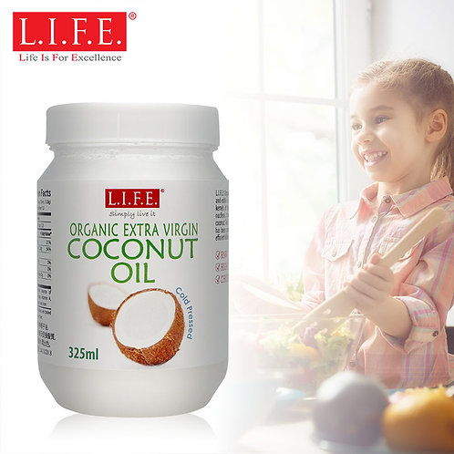 L.I.F.E. Organic Extra Virgin Cold-pressed Coconut Oil | 有機冷壓初榨椰子油