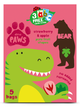 Bear PAWS 草莓蘋果味果肉片(多件装) | Strawberry & Apple Flavor Baby Food (multipacks)