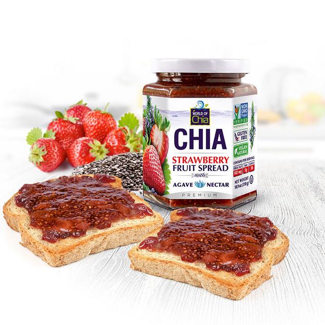 World of Chia Chia strawberry jam