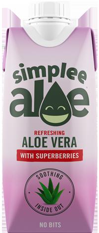 SIMPLEE ALOE 天然蘆薈汁-雜莓味 330ml | SIMPLEE ALOE Superberries 330ml