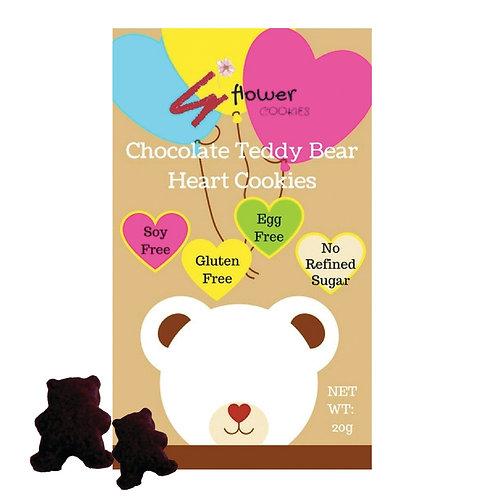 S FLOWER COOKIES 花花曲奇 朱古力熊仔心心曲奇 | Chocolate Teddy Bear Heart Cookies