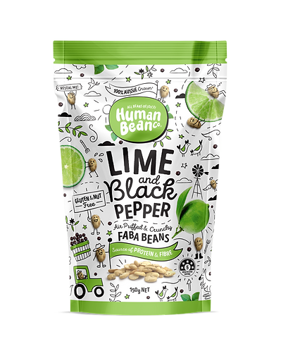 Human Bean 青檸黑胡椒味蠶豆 | Lime & Black Pepper Faba Beans Party Pack