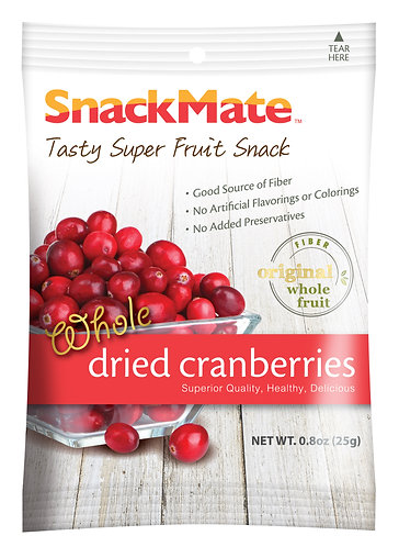 SNACKMATE 新仕美原粒紅莓乾 (單包裝) | SNACKMATE Whole Dried Cranberries 25g
