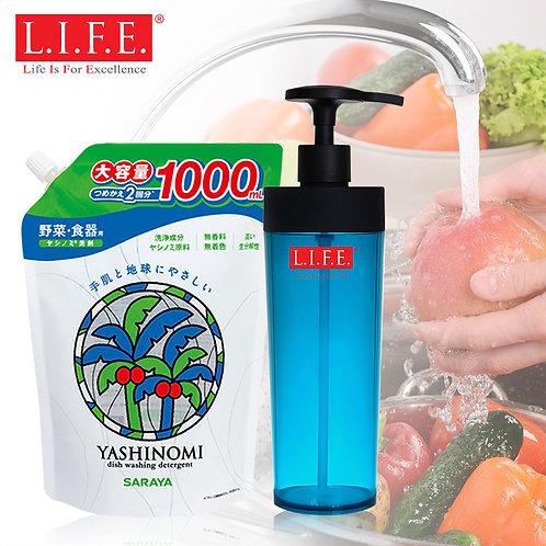 L.I.F.E. Neutral Detergent   椰子精華中性果菜洗潔精
