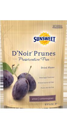 SUNSWEET D'Noir 無防腐劑去核西梅乾 (袋裝) |  SUNSWEET D'Noir™ Prunes - Preservatives free