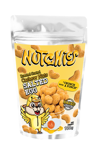Nutchies 鹹蛋黃味脆脆腰果 | Salted Egg Roasted Coated Cashews
