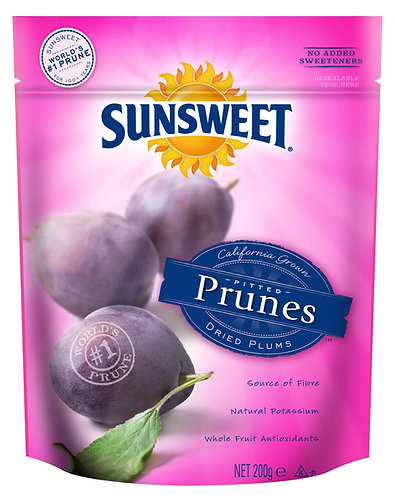 SUNSWEET 日光牌去核西梅乾 200克 (袋裝) |  SUNSWEET Pitted Prunes 200g (re-sealable bag)