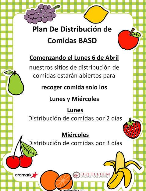 BASD Meal Distribution Plan Flyers Spani