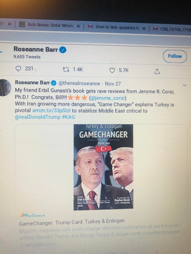 Roseanne Barr on Twitter on Gamechanger